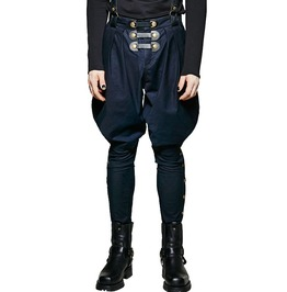 Punk Rave K 269 Cavalry Style Wide Hips Blue Victorian Steampunk Trousers
