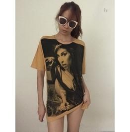 Amy Winehouse Soul Blue Jazz Pop Rock T Shirt L
