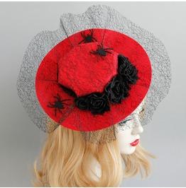 Mesh Spider Halloween Makeup Party Creative Show Cos Vampire Hat Hair Clip