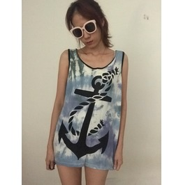 Fashion Punk Pop Rock Tie Dye Tank Top