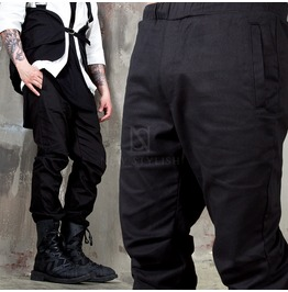 Hook And Loop Hem Baggy Jogger Pants 241