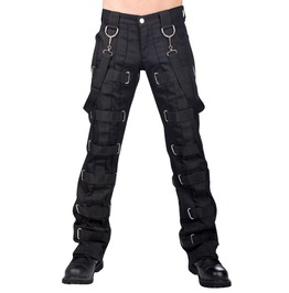 Men Gothic Bondage Pant Denim Silk Pant With Straps For Men