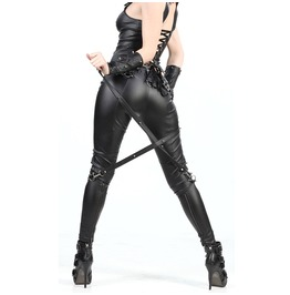 Women Bondage Pant Gothic Tight Cut Vegan Leather Pants For Girls