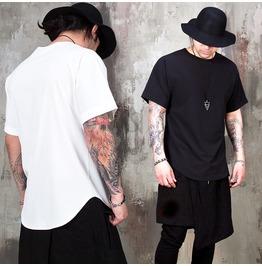 Avant Garde Woven Round Hem T Shirts 972