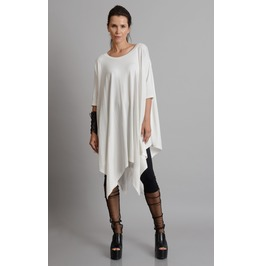 White Maxi Tunic/Extravagant Plus Size Top/Oversize Long Tunic/Casual Top