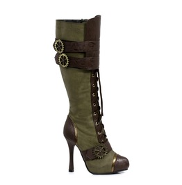 Quinley Olive Green Steampunk Womens Boots Size 6