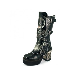 Spawn Skull Print Womens Knee Boot By Hades Size 10