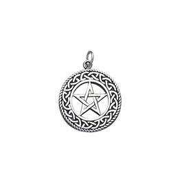Woven Pentacle Sterling Silver Charm Pendant