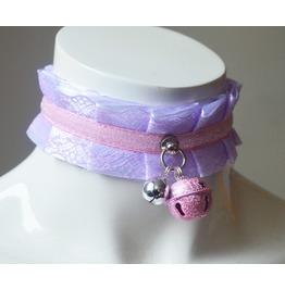 Lolita Collar * Candy Glitter * Pastel Kawaii Choker With Lace