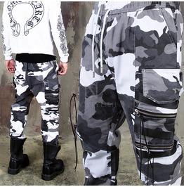Camouflage Zipper Cargo Jogger Pants 244