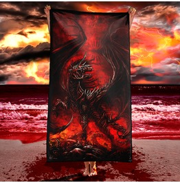 Demon Horse Beach Towel / Dark Fantasy Art