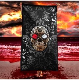 Gothic Sugar Skull Beach Towel