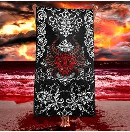 The Devil Beach Towel / Satanic Towel, Demon Art