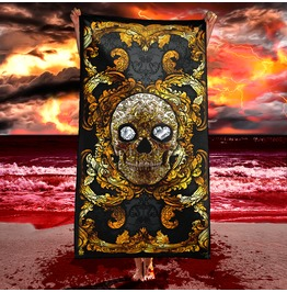 Gold Skull Beach Towel / Victorian Gothic Or Baroque Towel
