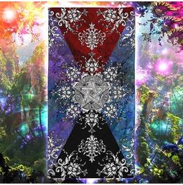 Silver Pentacle Or Pentagram Beach Towel / Wicca Towel