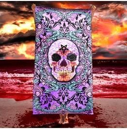 Pastel Goth Skull Beach Towel / Creepy Cute, Dark Fairy Skull