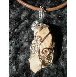 """Curvilinear Cordillera"" Wire Wrapped Flint Pendant"