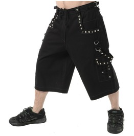 Gothic Mens Metal Summer Short Punk Rock Pyramids Short