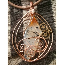 """Senescent Stasis"" Steampunk Clockwork Wire Wrap"