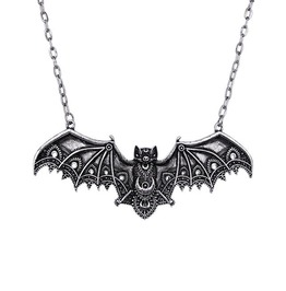 Restyle Clothing Silver Bat Necklace Rst009