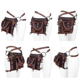 Restyle Clothing Brown Studded Holster Bag Rst007