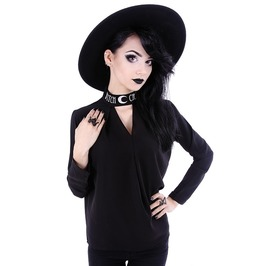 Restyle Clothing Oversized Black Witchcraft Blouse Rst024