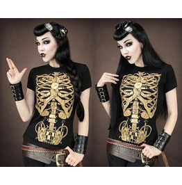 Restyle Clothing Steampunk Skeleton Girl's T Shirt Rst026