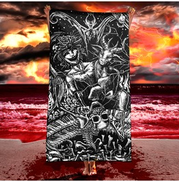 Gothic Hell Illustration Beach Towel