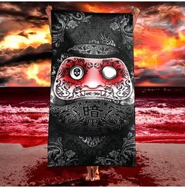 Gothic Japanese Daruma Beach Towel / Funny Dark Daruma Vampire