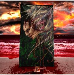 Masked Monster Horror Beach Towel