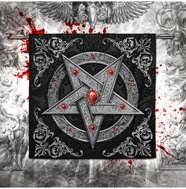 Silver Gothic Pentagram Bathroom Towel / Gothic Home Decor
