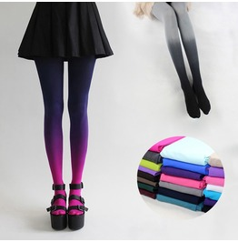 Sexy Gradient Colors Tight Stockings