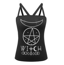 Three Straps Witch Print Top