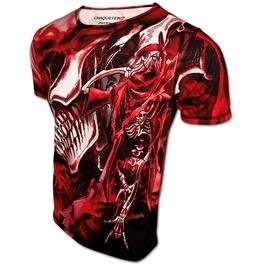 Rock & Death T Shirt Red Skull Designer Dancing Fashion Top