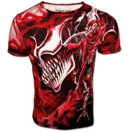 Halloween T Shirt For Men Rock And Death Red Skull Top ☠