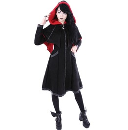 Restyle Clothing Black And Red Bat Coat Rst048