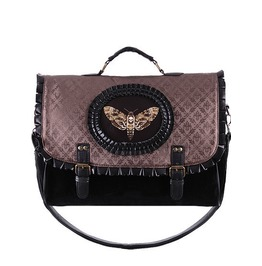 Restyle Clothing Cameo Moth Brown Hand Bag Rst040