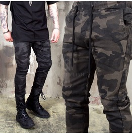 Camouflage Slim Fit Banding Pants 245