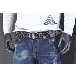 Rock Belt With Contrasting Studs