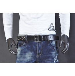 Armor Studded Black Belt