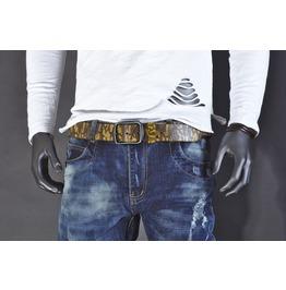 Camo Print Leather Belt