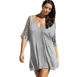 Boho Chic Short Sleeve Plus Size Dress