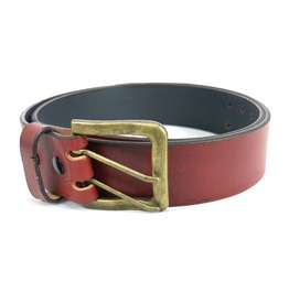 Brick Double Perforated Leather Belt Cint028