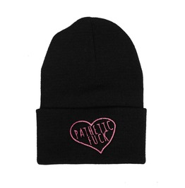 Black Beanie Embroidered Pathetic Fuck Nwpat30