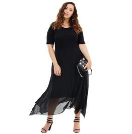 High Fashion Women's Asymmetrical Mesh Dress
