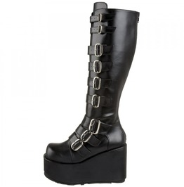 Platform Buckled Knee Boots Concord 108 By Demonia Size 7