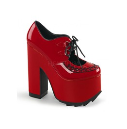 Cramps Red Platform Loafer By Demonia In Size 9