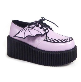 Pink Bat Wing Women Creeper Loafer By Demonia Size 9