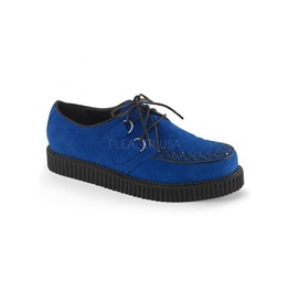 Rockabilly Mens Royal Blue Suede Creeper Loafer Size 7
