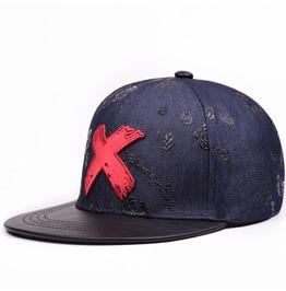Men Women Retro X Casual Flat Hat, Hip Hop Adjustable Sport Sun Caps